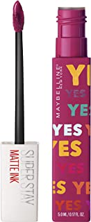 Maybelline New York - Superstay Matte Ink, Pintalabios Mate de Larga Duración, Edición Limitada Ashley Longshore, Tono 120...