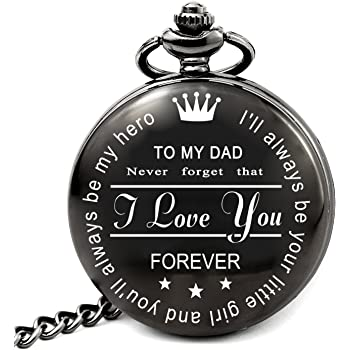 Birthday Gifts for Men Pocket Watch, Men Gifts for Anniversary Graduation Fathers Day Valentines Day, Unique for Him