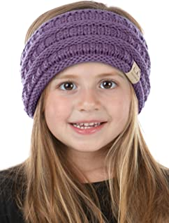 Funky Junque Exclusives Girls Head Wrap Lined Headband Stretch Kids Ear Warmer
