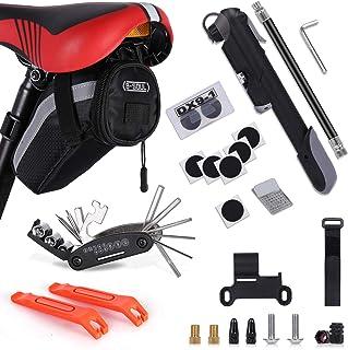 Bike Repair Kit, Bicycle-Tool-Set - with Saddle Bag,...