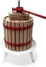 WilTec 6L Presse à Fruits INCL. torchon pour pressoir vin Fruit chêne cidre de Pommes