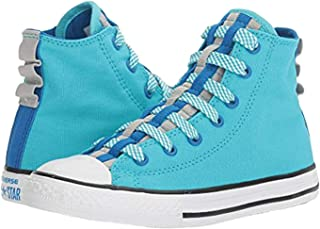 Converse Chuck Taylor All Star Loopholes Hi Fresh Cyan/Soar/White (Little Kid/Big Kid)