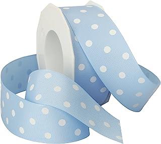 Morex Grosgrain Dot Ribbon Blue 3908.38/20-308