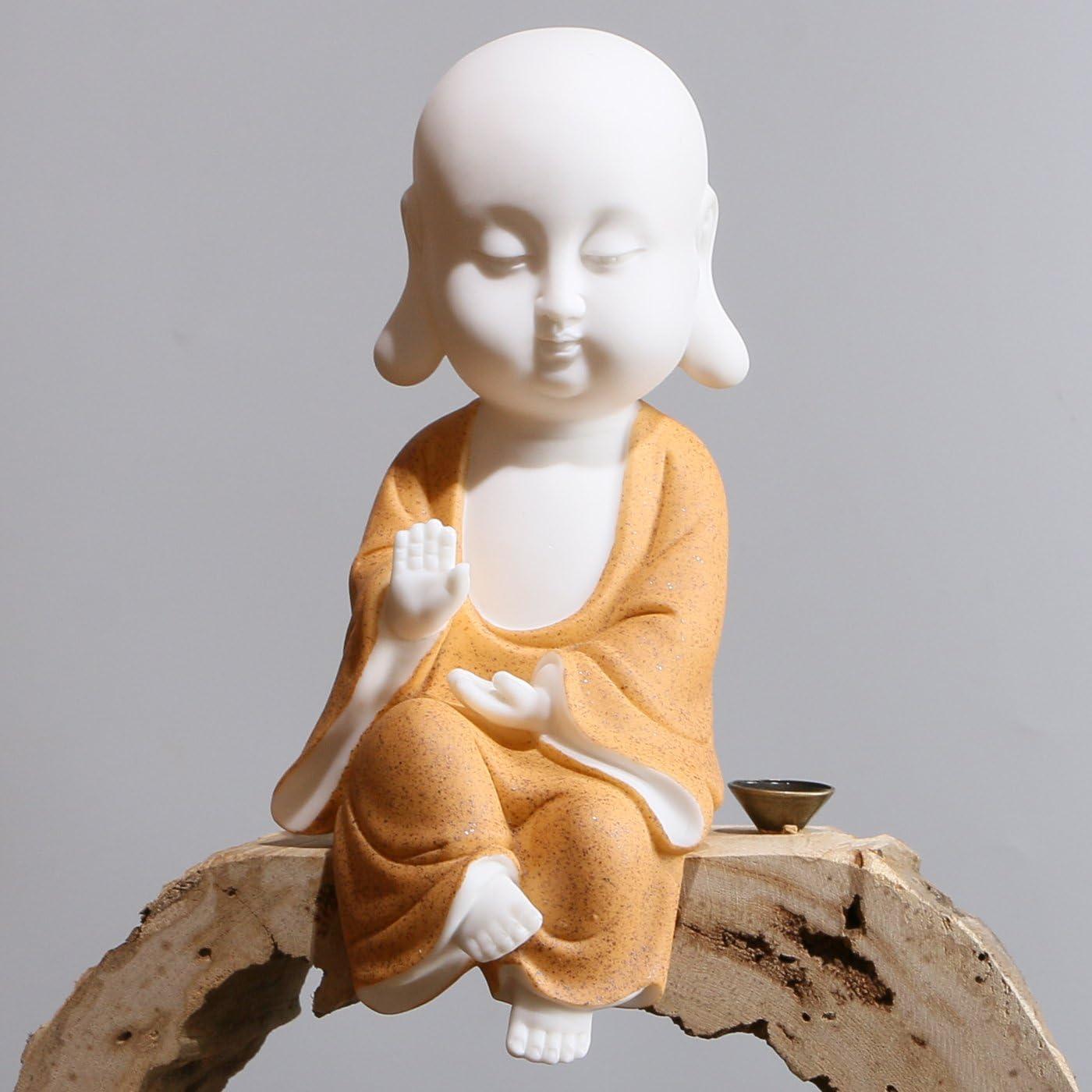White Ceramic Little Cute Buddha Statue Buddha Figurines Home De