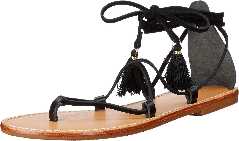 Soludos Womens Gladiator Lace Up Sandal Flat