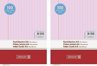 1000er Vorteilspack, blau liniert Brunnen Karteikarten A7 quer 180 g//qm