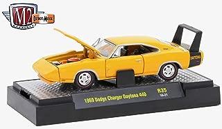 M2 Machines 1969 Dodge Charger Daytona 440 (Omaha Orange) - Detroit Muscle Release 35 2016 Castline Premium Edition 1:64 Scale Die-Cast Vehicle (R35 16-21)