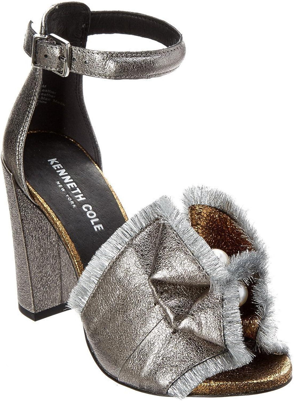 Kenneth Cole New York Womens Dayna Leather Fringe Block Heels