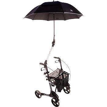 Schwarz Baby Wunsch Schirmhalter f/ür Rollator Rollstuhl