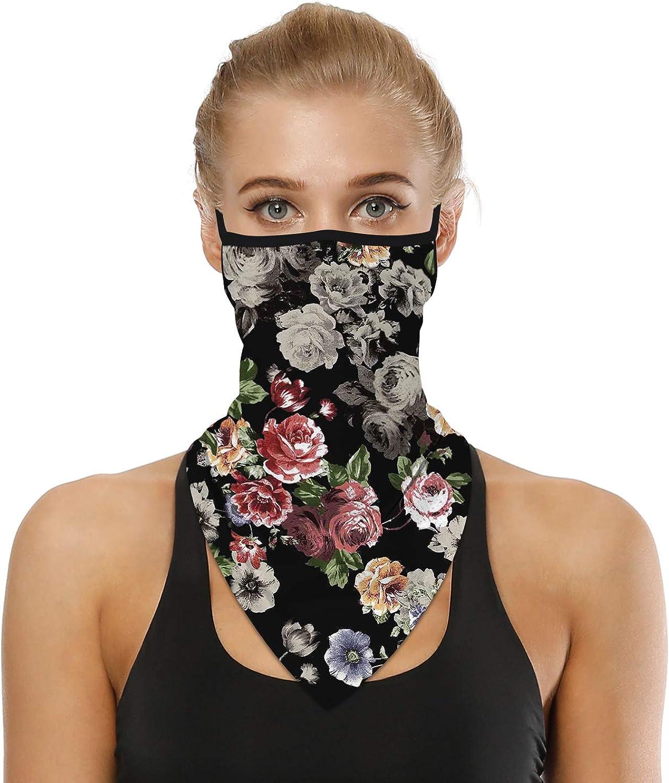 YAYOUREL Neck Gaiter Face Mask Covering Bandanas for Men Women Summer UV Face Scarf Mask Cover Facemask Balaclava Headbands