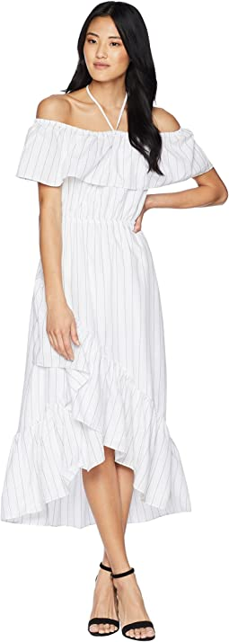 Halsey Striped Ruffle Dress
