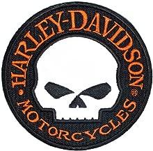 Harley-Davidson Reflective Patch, Willie G. Skull Hubcap Emblem, Small EM1029642