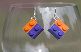 Clemson Earrings Clemson University Jewelry STERLING SILVER Hooks for Clemson Tigers Football Tailgating