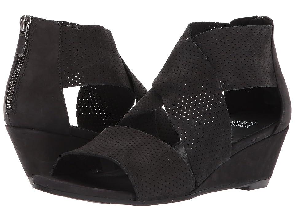 Eileen Fisher Kes 2 (Black Tumbled Leather) Women