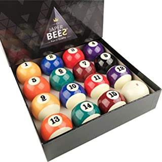 JAPER BEES Pool Balls Set Professional Pool Table Billiard Balls Regulation Size