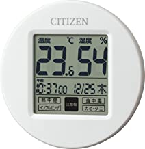 CITIZEN シチズン 温度計 湿度計 時計付き ライフナビプチA 白 65x65x13mm 8RD208-A03