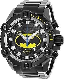 Men's DC Comics Quartz Watch with Stainless Steel Strap, Black, 31 (Model: 26912)