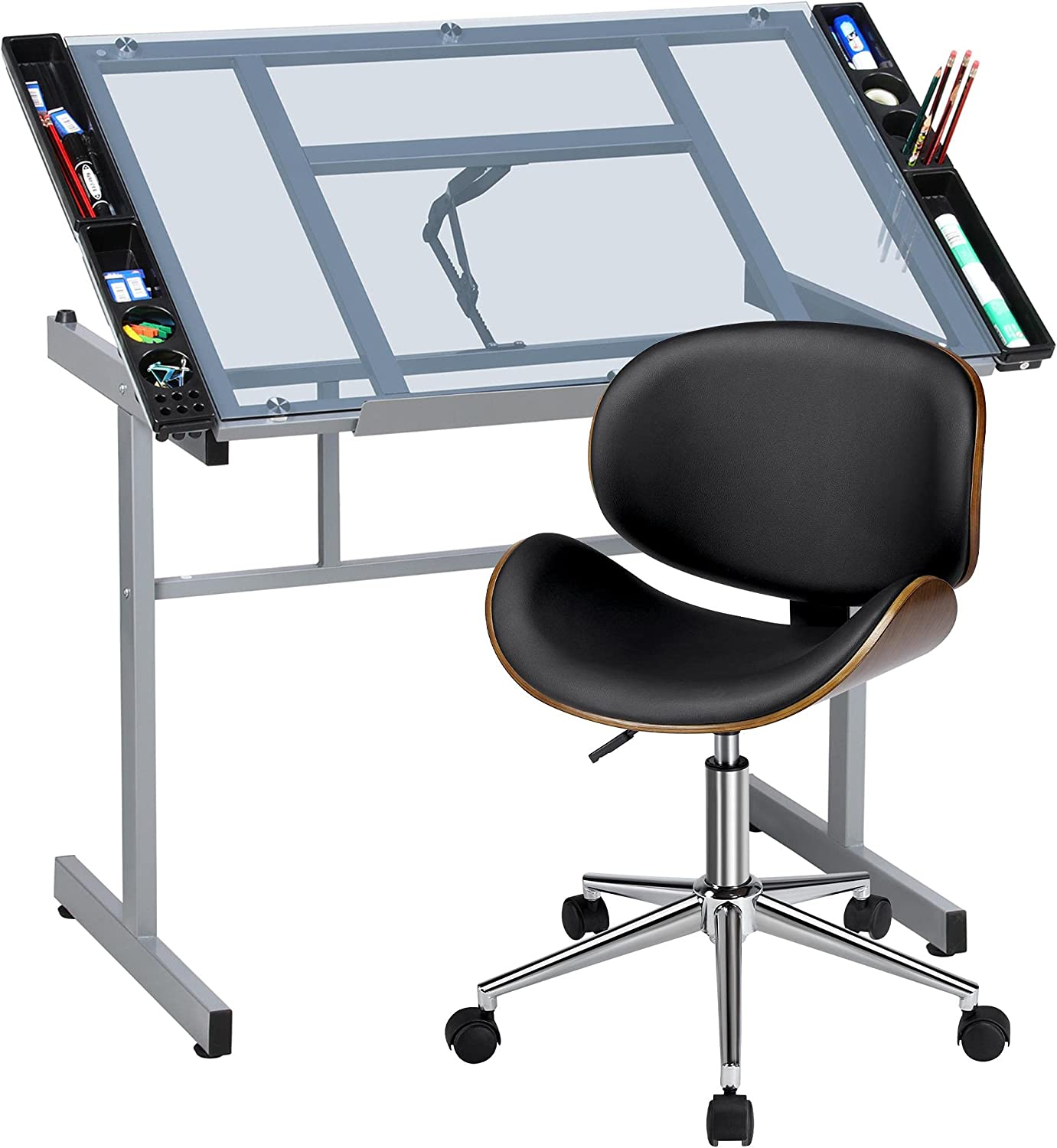 YAHEETECH Drafting Table Drawing Over item handling Tablet store Desk Tilted Artist