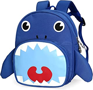 Cute Small Shark Backpack Toddler School Bag with Leash for Boy Girl 1-3 Year