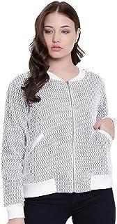 TEXCO White Lace Bomber Women Jacket
