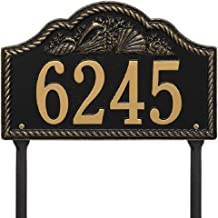"""Rope Shell Arch Lawn Address Plaque 15.5"""" x 10"""" (1 Line)"""