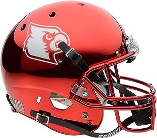 Louisville Cardinals Schutt Red Chrome Replica Football Helmet - College Replica Helmets