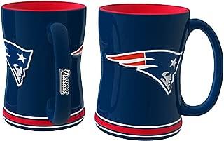 Boelter NFL Sculpted Coffee Mug, 15 Ounces, New England Patriots