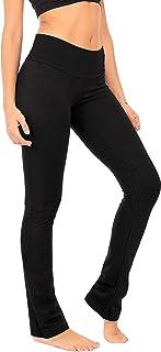 DEAR SPARKLE Bootcut Leggings for Women   Slim Bootleg Opaque Yoga Pants + with Hidden Pocket + Plus Sizes (C5)