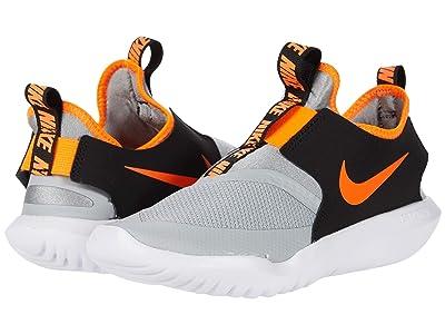 Nike Kids Flex Runner (Little Kid) (Light Smoke Grey/Total Orange/Black/White) Kids Shoes