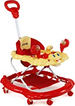 Luvlap Sunshine Baby Walker, Height Adjustable with Light & Music Toys, 6m+ (Red)