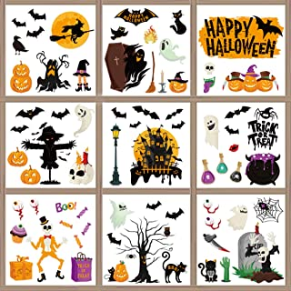 BESPORTBLE Halloween Window Clings Decals Decorations Double- Sided Stickers for Halloween Party Window Posters Window Sti...