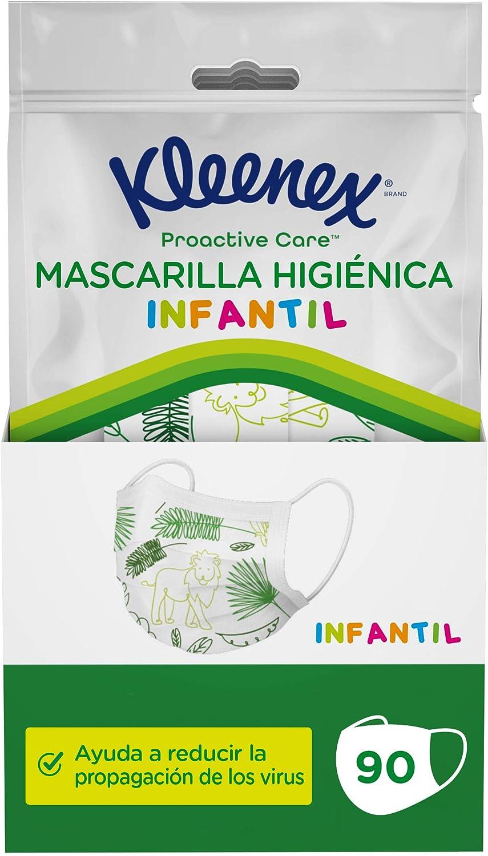 Kleenex Mascarilla Higiénica Infantil 5x18 (90 unidades)