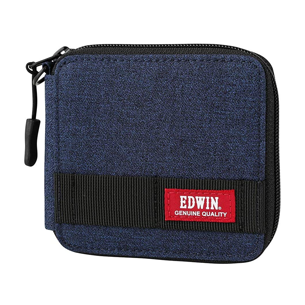 褒賞単独であごEDWIN(エドウィン) シャークスキン 折財布 ウォレット 2つ折り ファスナー 22229059 メンズ