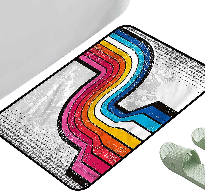 Max 53% OFF Doormat Living Room Rug Retro Pop Grunge New product type Style x Art 35.5