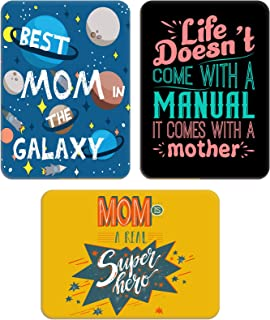 Whats Your Kick - Mom Theme Inspired Set of 3 - Printed Wooden Fridge Magnet | Mom | Mothers Day | Best Mom | Mummy Papa |...