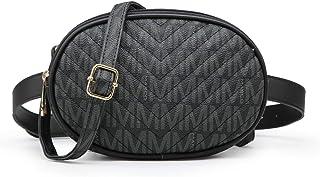 MKP Women Signature Fashion Waist Packs Pouch Cellphone Wallet Small Travel Crossbody Shoulder Bag W/Double Zipper Pocket...