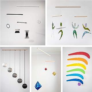 Set of 5 Montessori inspired mobiles - Black and White mobile, Gray Gobbi, Dancers, Octahedron, Rainbow. Montessori mobile...