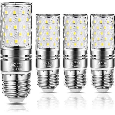 Bayonet Cap LED Light Bulbs Non-dimmable,4-Pack Candelabra LED Light Bulbs 100W Incandescent Equivalent 6000K Daylight White 1200LM Cool White B22 Yiizon B22 LED Corn Bulbs 12W