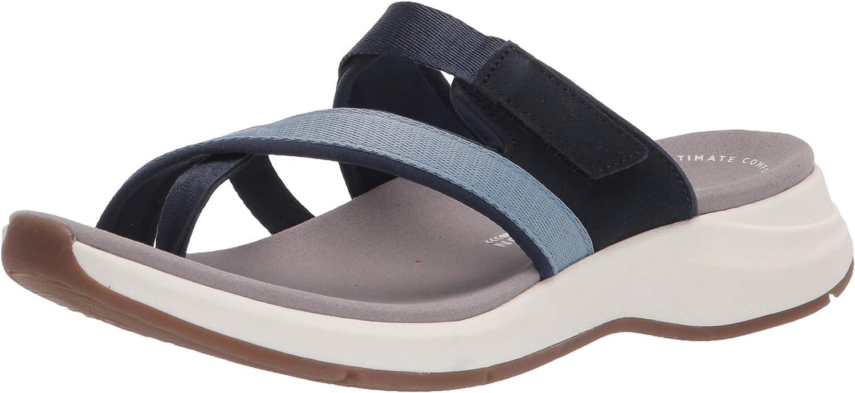 Clarks Women's Solan Surf 人気ブランド多数対象 即納 Sandal Flat