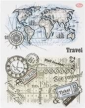 Transparente Hoja de sellos de silicona Scrapbooking Estampado en relieve Estampado transparente para bricolaje Álbum de fotos Álbum de fotos Papel Cuaderno Tarjeta Fabricación Viajes y mapas 2#