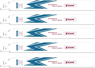 EZARC Reciprocating Saw Blade Heavy Metal Cutting 225mm 14TPI R926PM+ (5-Pack)