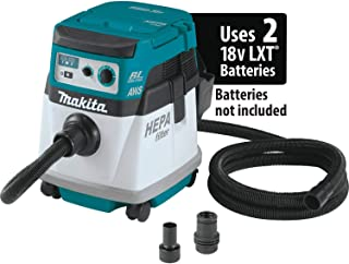 Makita XCV16ZX 18V X2 LXT Lithium-Ion (36V) Brushless Cordless 4 Gallon HEPA Filter Dry Dust Extractor, AWS, Tool Only