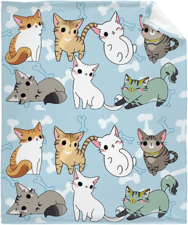 Korlav Playful Cats Blanket Popular brand Personalized Blanke Outdoor Sofa Super sale for
