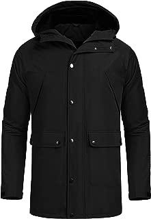 Coofandy Mens Waterproof Fleece Ski Jacket Warm Winter Snow Coat Mountain Windproof Hood Rain Jacket for Snowboarding,Outdoor