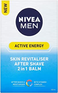 NIVEA FOR MEN Energy, Double Action Balm 3.30 oz (Pack of 2)