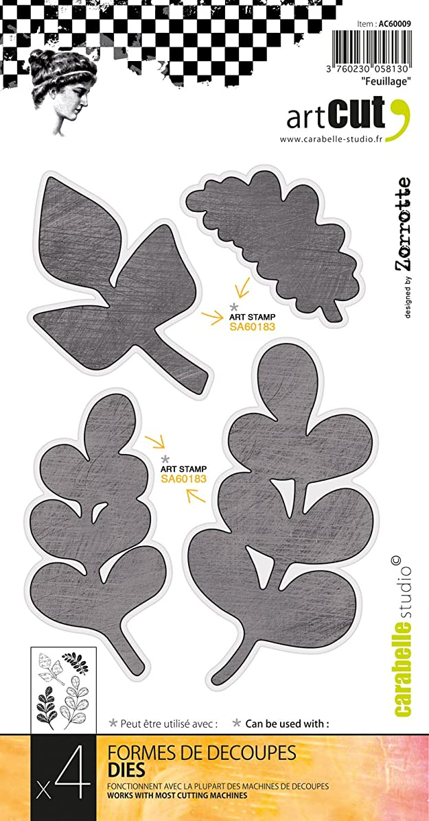 Carabelle Art Cut Die-Foliage; 4/Pkg