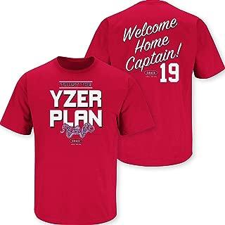 Smack Apparel Detroit Hockey Fans. Trust The Yzerplan Red T-Shirt (Sm-5x)