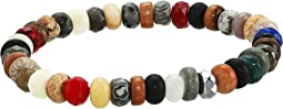 Multicolor Genuine Gemstone Beaded Bracelet