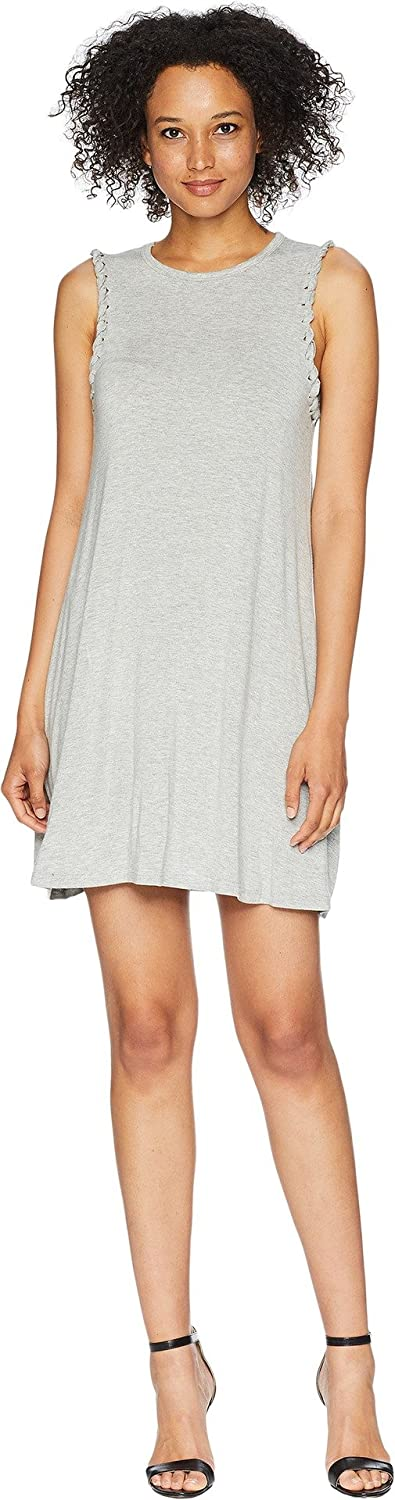 American pink Women's Micah Sleeveless Dress Heather Grey Small