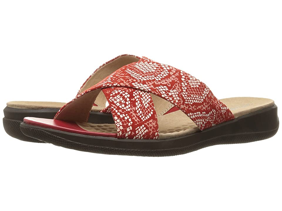 SoftWalk Tillman (Red Snake Printed Python Leahter) Women